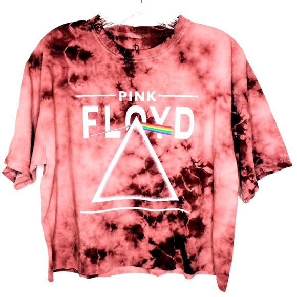 e98b480230e6c C Life Tops - Cropped top Pink Floyd Tie-dye band tee shirt M L